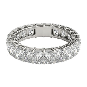 4 ct Radiant Cut Diamond Eternity Band in Platinum