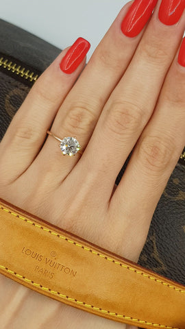 1.50 Carat Round Brilliant Cut Diamond Engagement Ring