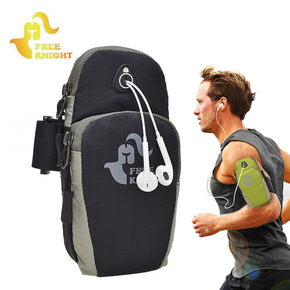 Free Knight Running Pack Gym Arm Bag Phone Sport Bags Armband Arm Band Pouch For Camping Hiking Fishing Workout Case XA270WA