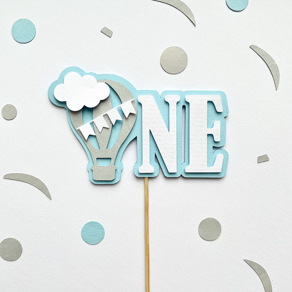 Hot Air Balloon 1st Birthday Cake Topper