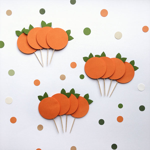 Orange Cupcake Toppers