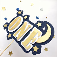 Moon Star One Cake Topper MS015