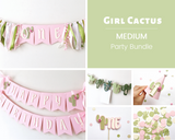 Girl Cactus 1st Birthday Party Bundle