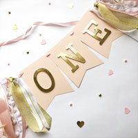 Blush Gold High Chair Banner