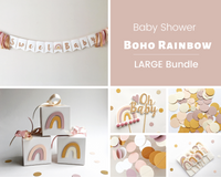 Baby Shower Boho Rainbow Party Bundle