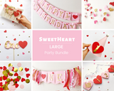 Valentine 1st Birthday Party Bundle