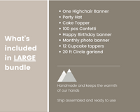 Mountain 1st Birthday Party Bundle