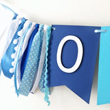 Ombre Blue Boy One High Chair Banner