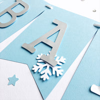 Snowflake Baby Shower Banner