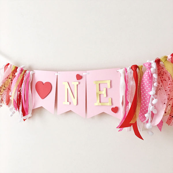 Little Sweetheart One High Chair Banner SH003