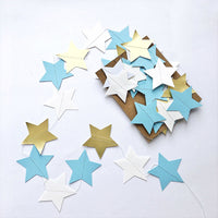 Blue Gold Stars Garland