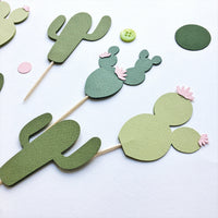 Cactus Cupcake Toppers CD006
