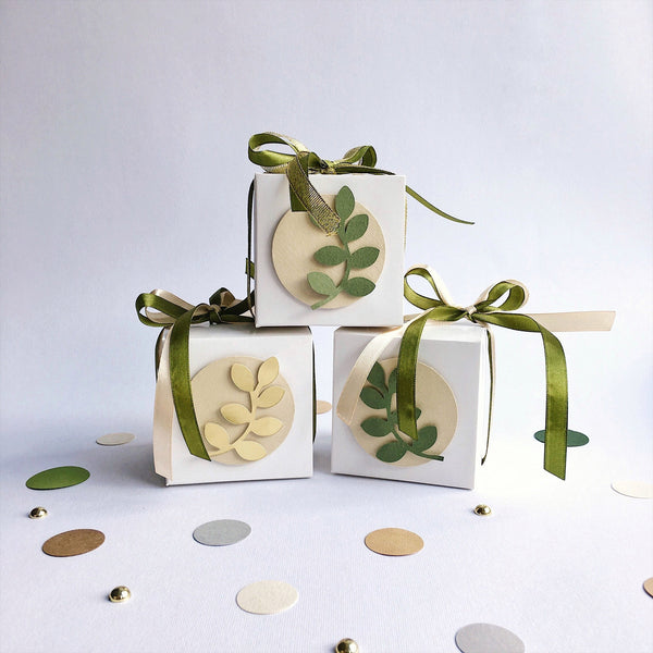Greenery Favor Boxes
