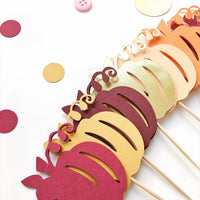 Autumn Pumpkin Cupcake Toppers