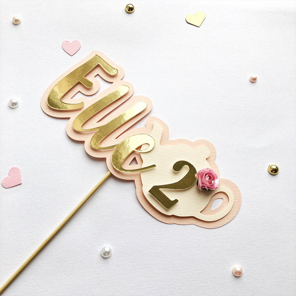 Tea Party Cake Topper TP007