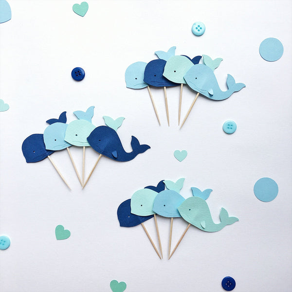 Whale Cupcake Toppers WP005