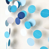 Ombre Blue Circle Garland