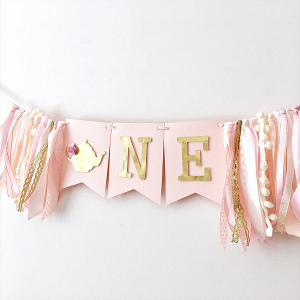 Tea Party One High Chair Banner TP002