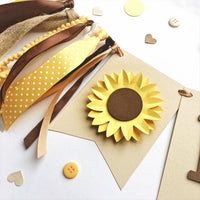 Sunflower One High Chair Banner Sunflower Girl 1st Birthday Decorations Floral One Highchair Sign Girl Cake Smash Backdrop I am One Banner