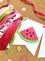 Watermelon One Highchair Banner One in a Melon Watermelon 1st Birthday Decoration Pink Green Cake Smash Photo Prop Watermelon Party Backdrop