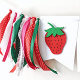 Strawberry Highchair Banner Berry Sweet Party Strawberry Girl 1st Birthday Decorations Twotti Frutti Birthday Banner Summer Girl Birthday