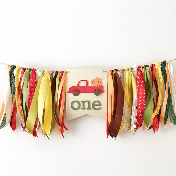 Red Truck Boy Highchair Banner