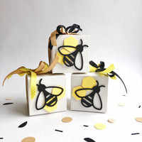 Bumble Bee Favor Boxes What Will It Bee Baby Shower Decorations Mommy to Bee Party Honey Bee 1st Birthday Gift Candy Boxes Set of 12