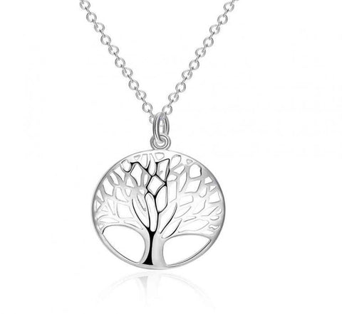 Silver Color Tree Of Life Pendant Necklace-Shopping Promos