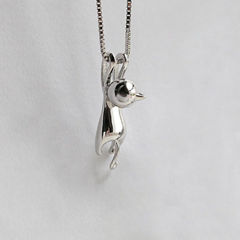 Image of Tiny Cute Cat Pendant Necklace-Shopping Promos