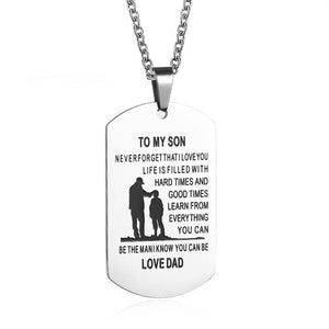 DAD TO MY SON Stainless Steel Pendant