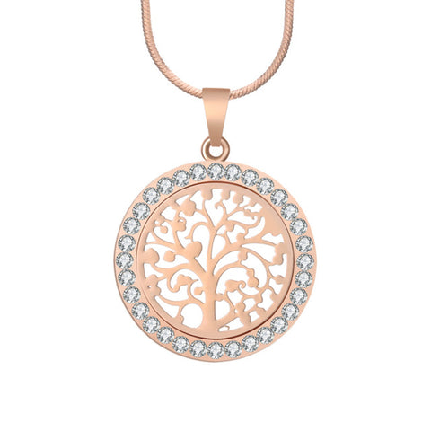 Bijoux Austrian Crystal Tree Of Life Pendant Necklace-Shopping Promos