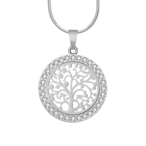 Bijoux Austrian Crystal Tree Of Life Pendant Necklace
