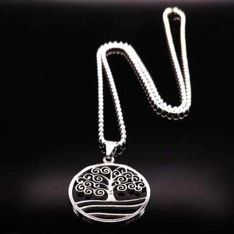 Image of Bohemian Style Tree of Life Necklace-Shopping Promos