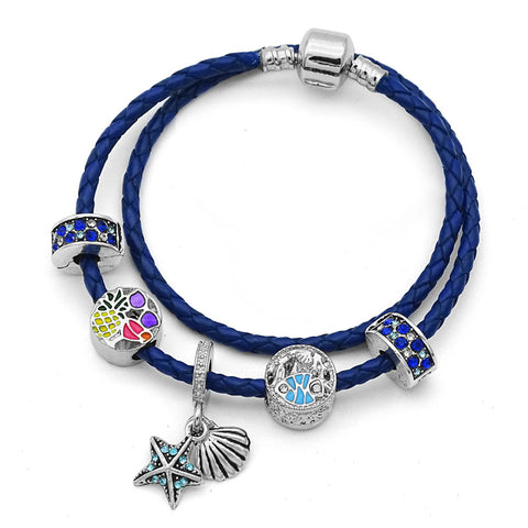 Stunning Starfish and Seashell Charm Bracelet-Shopping Promos