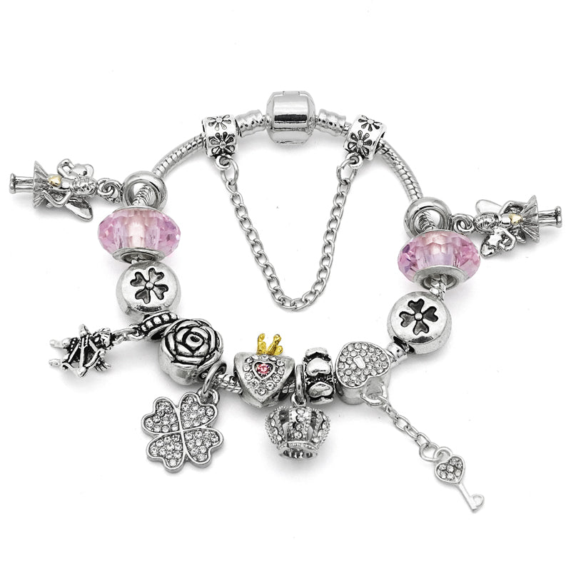 Cute Pink Color Charm Bracelet-Shopping Promos