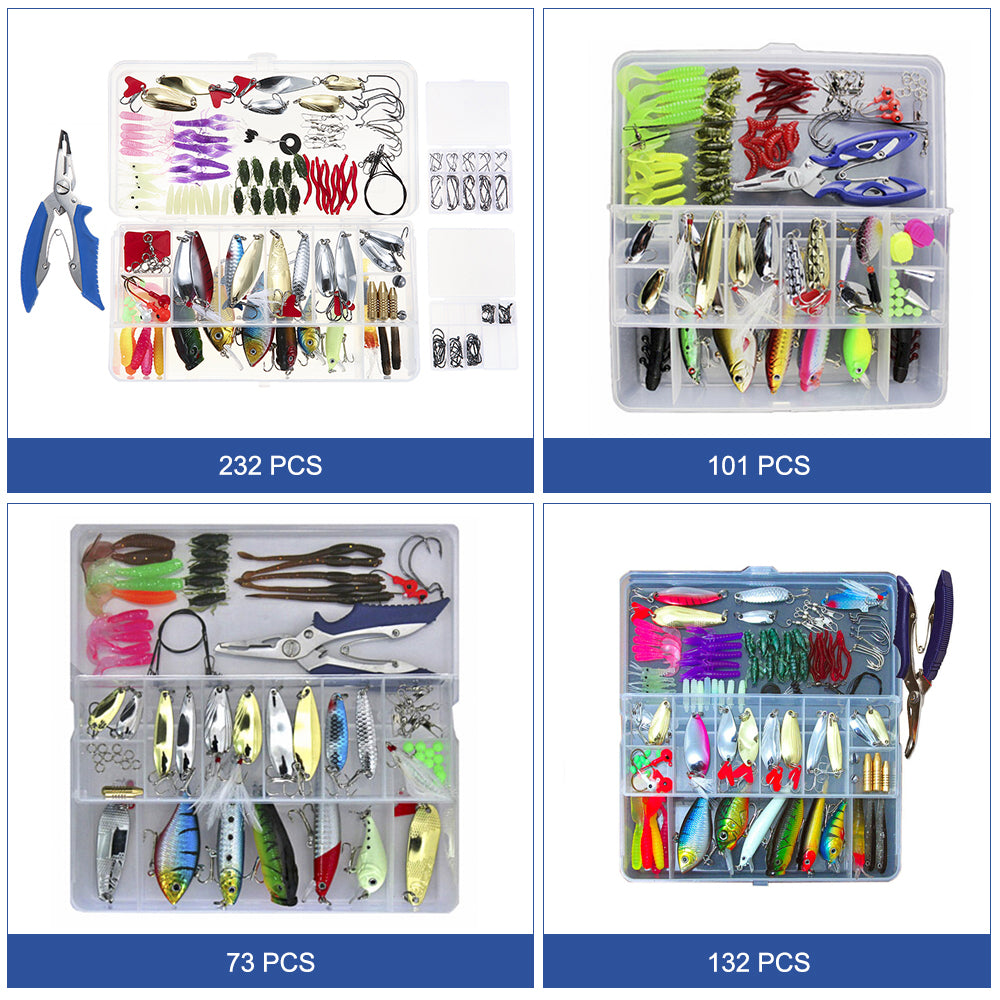 Superb Fishing Lure Set With Choice Of 73/101/132/232 Pieces-Shopping Promos