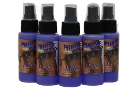 Travel size Bottles of eye care lense cleaner