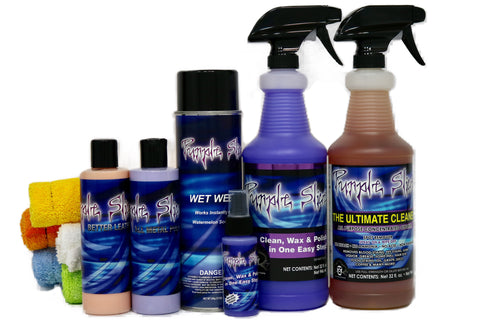 The Ultimate package of detailing products by purple Slice