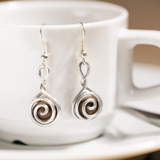 Fair Trade Coffee Bean Earrings | Ethically Made Coffee Jewelry