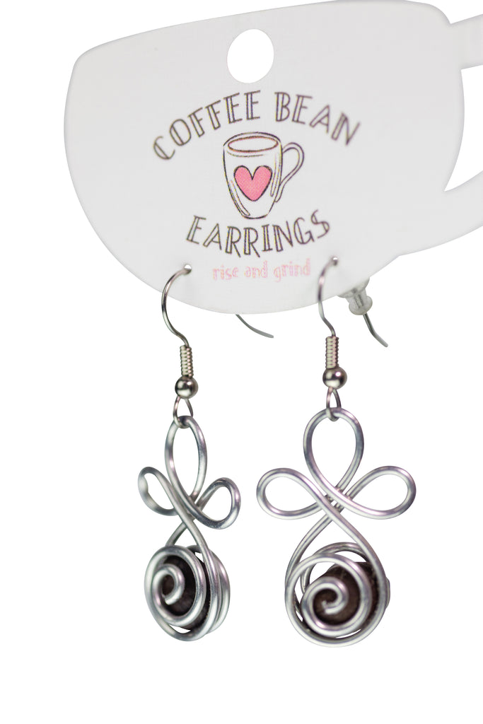 Coffee Beans Earrings For Women Fair Trade Gift Dominican Republic Artisan
