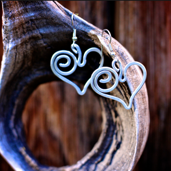 Corazon ( Heart ) Earrings