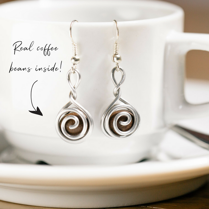 Coffee Jewelry Gift for Women Coffee Bean Earrings