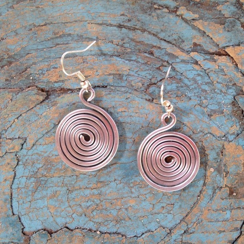 Cute Little Spiral Earrings