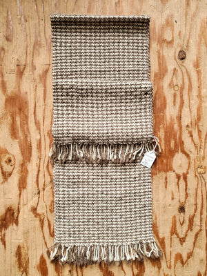 Wide Handwoven Houndstooth Scarves | Wool, Llama, + Alpaca