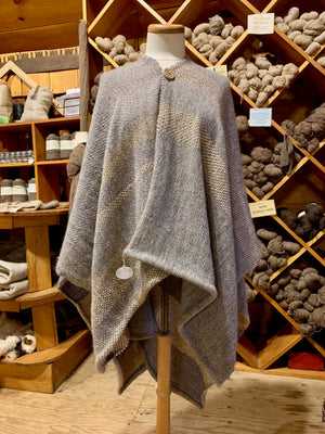 Handwoven Pullover Shawl | Wool Blend