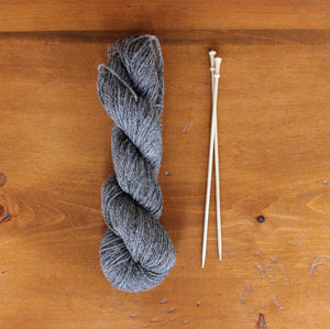 Yarn: Natural Gray Alpaca, Angora & Wool