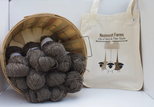 Yarn: Natural Gray  Alpaca, Mohair & Wool