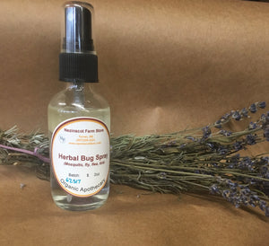 Organic body care. Nezinscot Farm Herbals Bug Spray