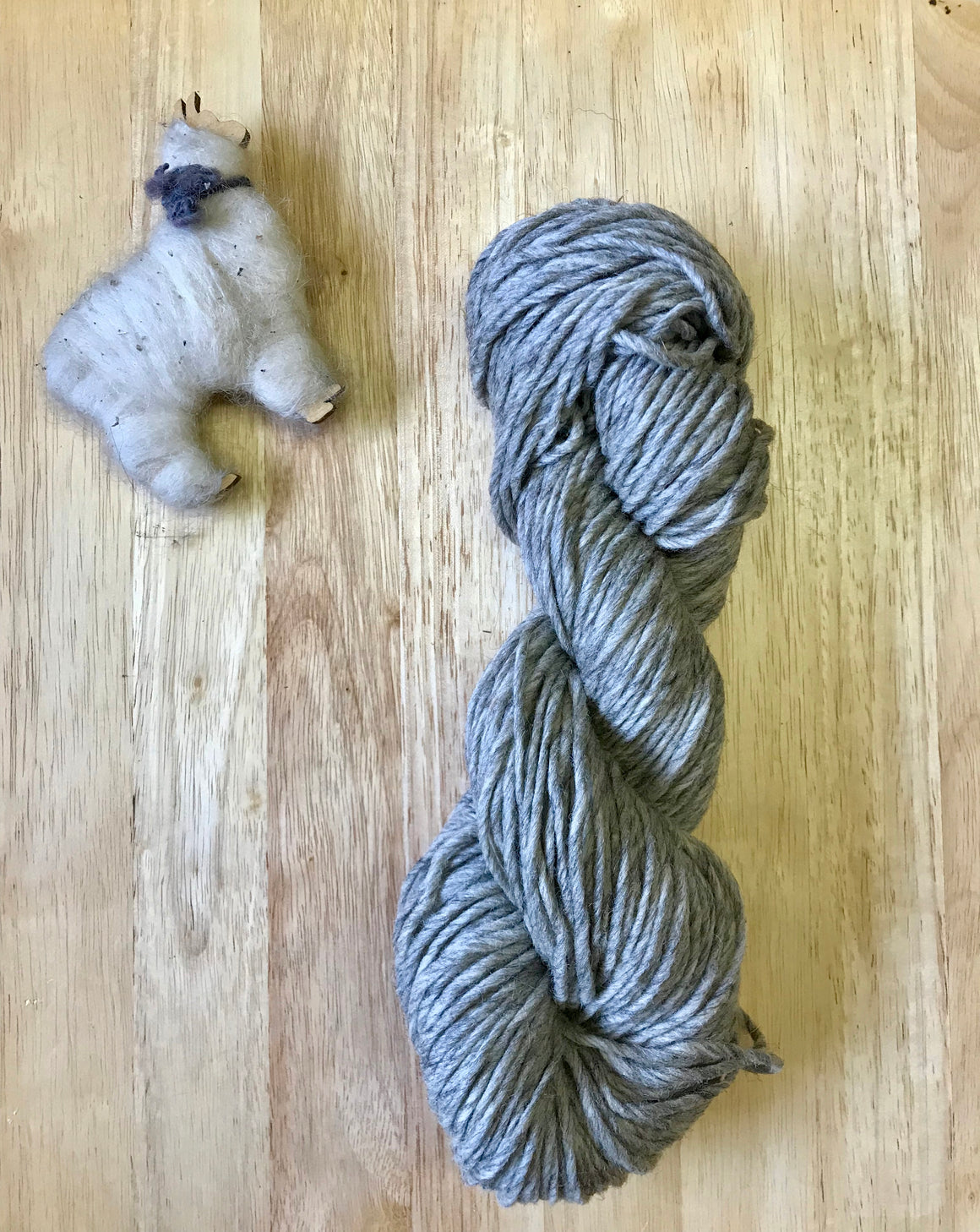 Yarn: 100% Wool Natural Gray