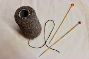 Yarn: Natural Brown Camelid Cone Yarn